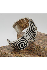 Judy Perlman Heavy Guage Sterling Silver Overlay Sterling Cuff