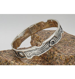 Judy Perlman Sterling Silver Textured Bangle