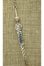 Judy Perlman Sterling Silver w/ Picaso Jasper, SS Handmade chain