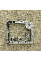 Judy Perlman Sterling Silver Reversible Elephant w/ Chain
