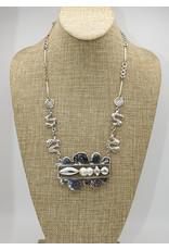 Judy Perlman Sterling Silver, Pearl Reverisble Cloud, HM Chain