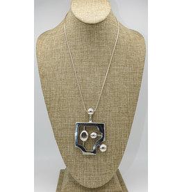 Judy Perlman Sterling Silver Modernist Pendant w/ Chain