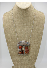 Judy Perlman Sterling Silver/Carnelian Abacus on chain