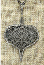Gildas Gewels Sterling & Diamond Leaf/Clasp Necklace