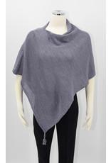 KNIT Wool/Silk Ponchette - Charcoal
