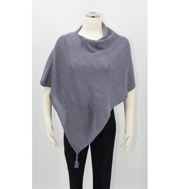 KNIT Wool/Silk Ponchette - Charcoal