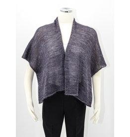KNIT Silk/Mohair Sweater - Dk Gray