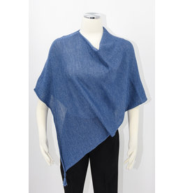KNIT Wool/Silk Ponchette - Bluberry