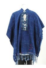 KAT53 Vintage Indigo Cape Shawl
