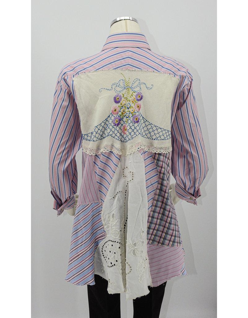 Char Designs, Inc. Pink, Purp. Stripe, Patchwork & Lace