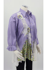 Char Designs, Inc. Purple Stripe, Patchwork & Lace