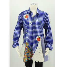 Char Designs, Inc. Bright Blue Check w/Cherries