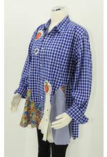 Char Designs, Inc. Bright Blue Check w/Cherries