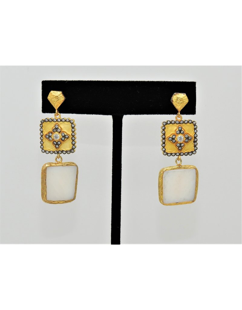 Bijouterie Vermeil, Mother of Pearl Earrings