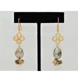 Bijouterie HME183Y Silverite on wire earrings