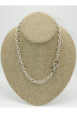 Vincent Peach Stirrup Lock Chain Necklace