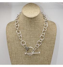 Vincent Peach Equestrian Toggle Necklace
