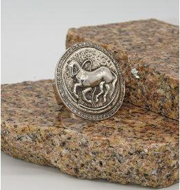 Vincent Peach Trojan Coin Diam. Ring
