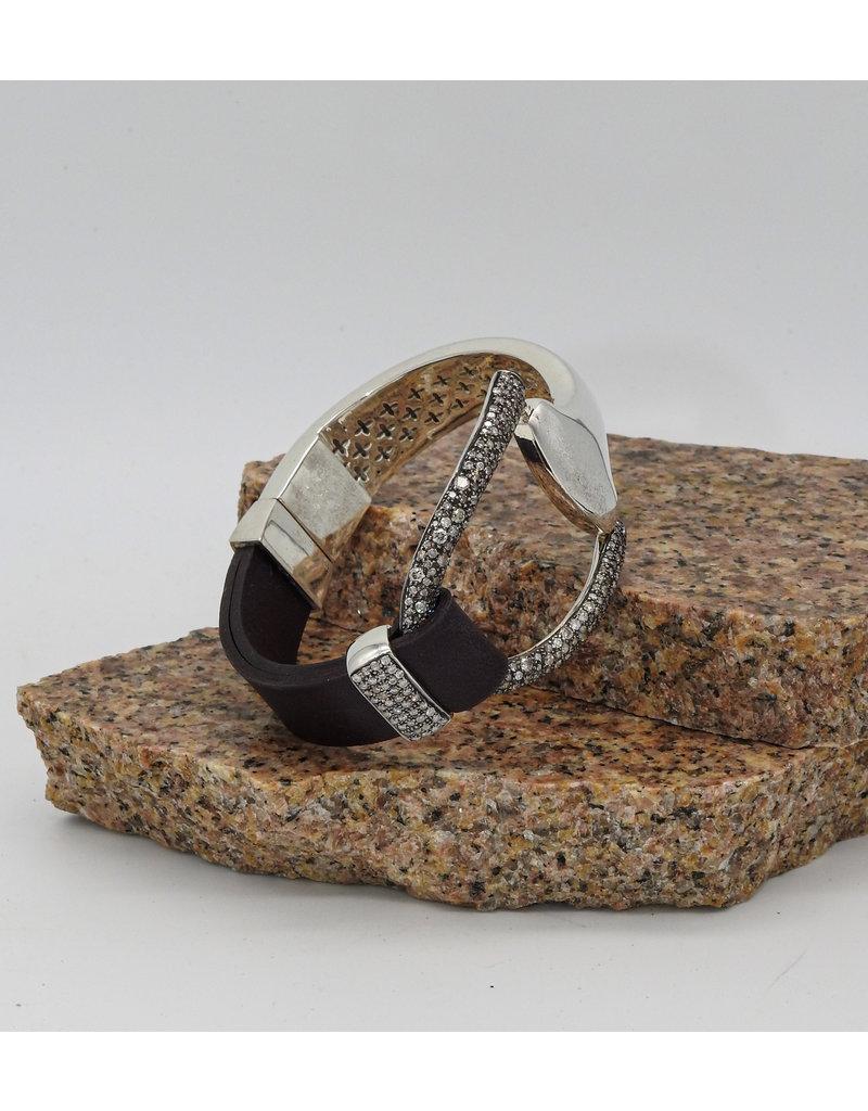 Vincent Peach Santa Clara Half Diam. Bracelet