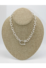 Vincent Peach Shackle Chain Necklace