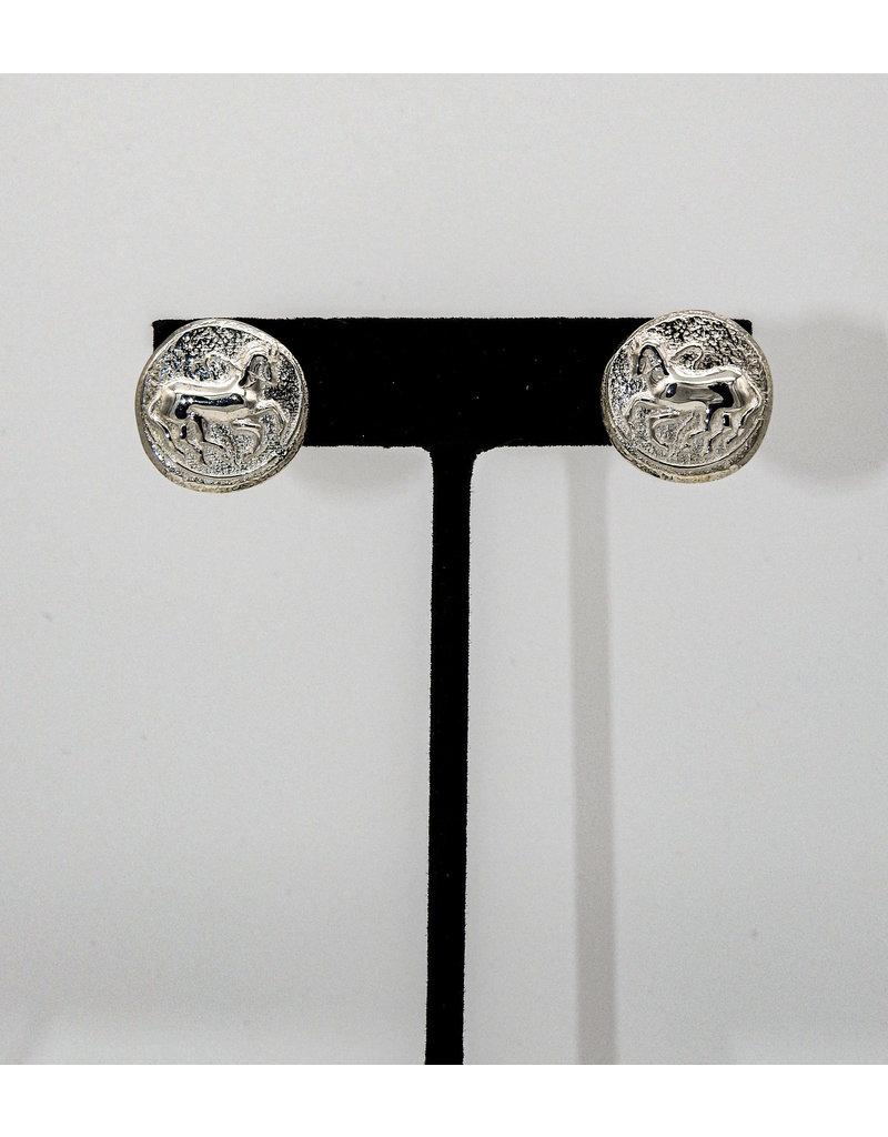 Vincent Peach Trojan Coin Earrings