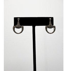 Vincent Peach Pave Horse Bit Earrings