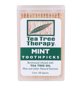 TEA TREE THERAPY TEA TREE THERAPY TOOTHPICKS, MINT, 100 COUNT
