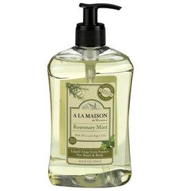 A LA MAISON DE PROVENCE A LA MAISON DE PROVENCE LIQUID SOAP, ROSEMARY MINT, 16.9 FL. OZ.