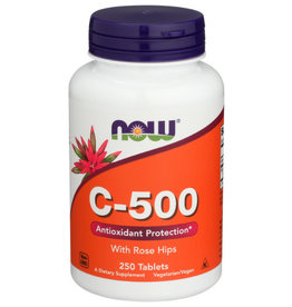 NOW FOODS NOW C-500 ANTIOXIDANT PROTECTION DIETARY SUPPLEMENT, 250 TABLETS
