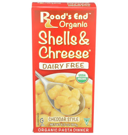 ROAD'S END ORGANIC™ ROAD'S END CHEDDAR STYLE SHELLS & CHEESE, 6.5 OZ.