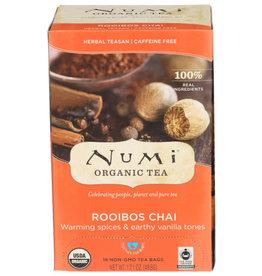 NUMI® NUMI ORGANIC TEA HERBAL TEA, ROOIBOS CHAI, 18 TEA BAGS