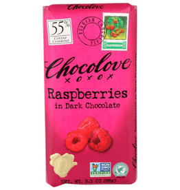 CHOCOLOVE® CHOCOLOVE RASPBERRIES IN DARK CHOCOLATE , 3.1 OZ.