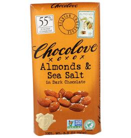 CHOCOLOVE® CHOCOLOVE ALMONDS AND SEA SALT IN DARK CHOCOLATE , 3.2 OZ.
