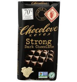 CHOCOLOVE® CHOCOLOVE STRONG DARK CHOCOLATE , 3.2 OZ.