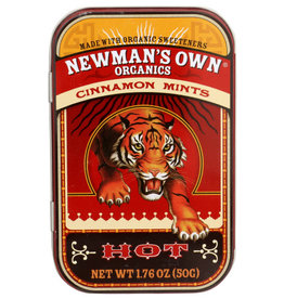 NEWMAN'S OWN ORGANICS NEWMAN'S OWN ORGANICS MINT TINS, CINNAMON MINTS, 1.76 OZ.