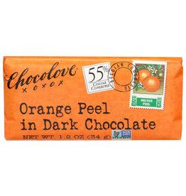 CHOCOLOVE® CHOCOLOVE ORANGE PEEL IN DARK CHOCOLATE , 1.2.OZ.