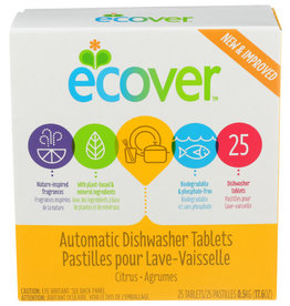 ECOVER ECOVER CITRUS AUTOMATIC DISHWASHER TABLETS, 25 COUNT