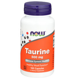 NOW FOODS NOW FOODS TAURINE 500 MG, 100 CAPSULES
