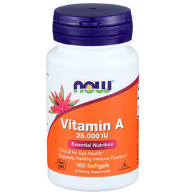 NOW® Now Vitamin A 25000 Essential Nutrition 100 Softgels