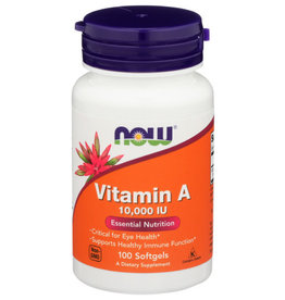 NOW® Now Vitamin A 10,000 IU Essential Nutrition 100 Softgels