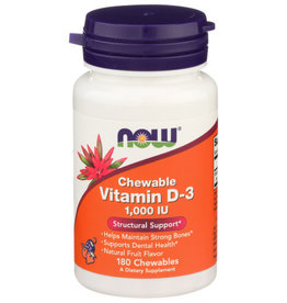 NOW FOODS NOW CHEWABLE VITAMIN D-3 DIETARY SUPPLEMENT, 180 COUNT