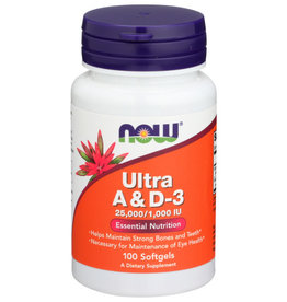 NOW FOODS Now Ultra A & D-3 25,000/1,000 IU Esential Nutrition 100 Softgels