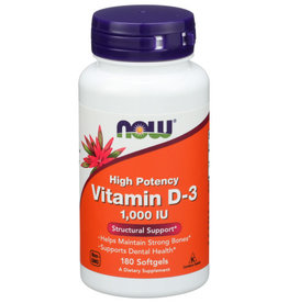 NOW® NOW VITAMIN D-3, 180 SOFT GELS