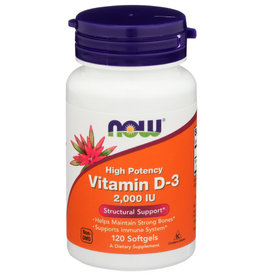 NOW® Now Vitamin D-3 2000 IU Structural Support 120 Softgels