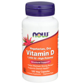 NOW FOODS Now Vegetarian Dry Vitamin D Structural Support 120 Veg Capsules