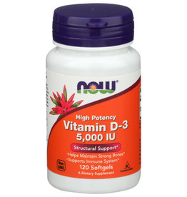 NOW® Now Vitamin D-3 5000 IU Structural Support 120 Softgels
