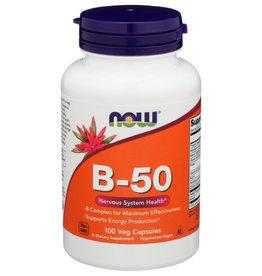 NOW FOODS NOW B-50 NON-GMO DIETARY SUPPLEMENT, 100 VEG CAPSULES