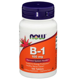NOW FOODS NOW B-1 DIETARY SUPPLEMENT, 100 TABLETS