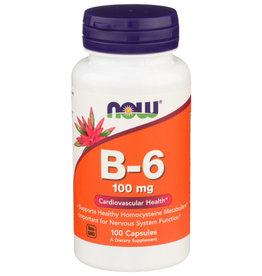 NOW FOODS NOW FOODS B-6 100 MG, 100 CAPSULES