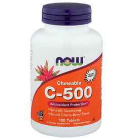 NOW FOODS C 500 CHEW CHERRY 100 TABLETS